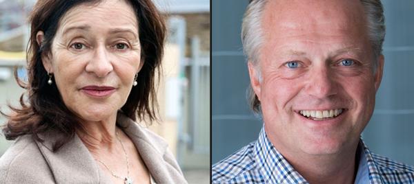 Madeleine Nobs och Erik Hirsch på Fastighetsfokus VVS